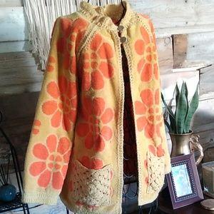 Vintage 70s Judy Dehart Handmade Coat